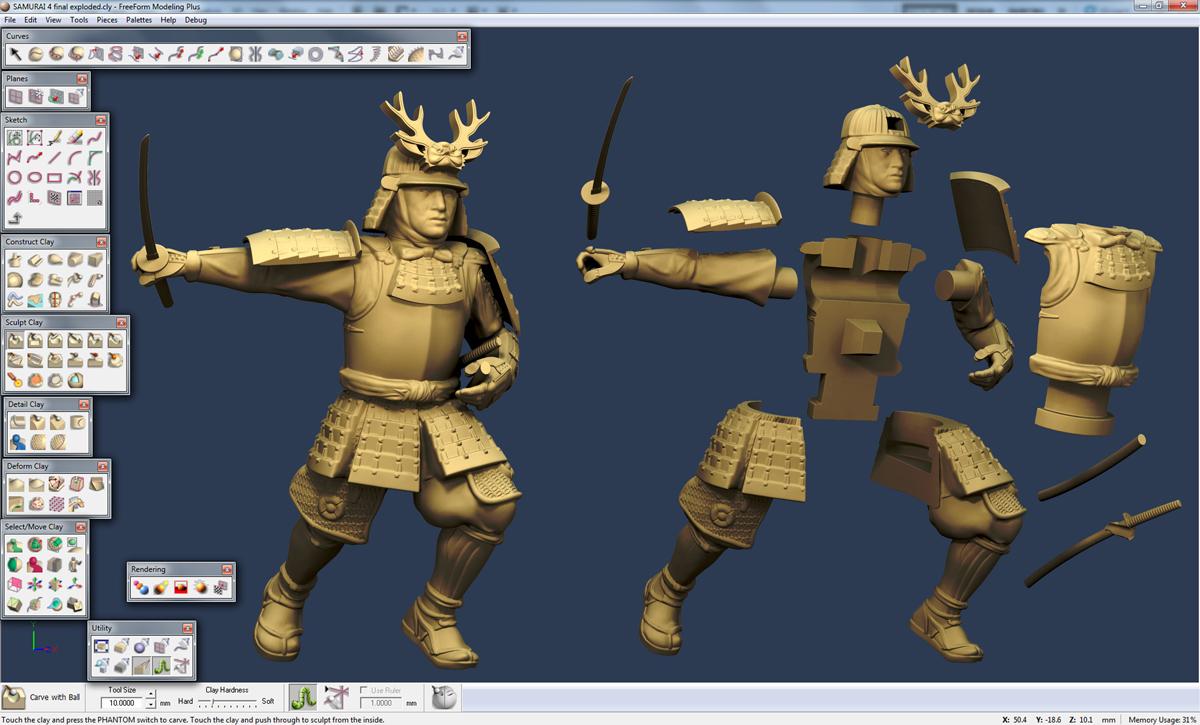 3D Freeform modeling software