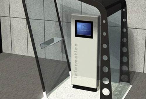 info kiosk design