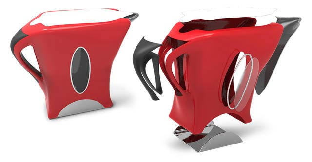 3DSystems Software Freeform Electric Kettle Design Red