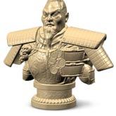 sculpt emboss 3d war god